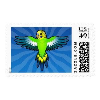 Cartoon Budgie / Parakeet Postage