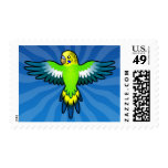 Cartoon Budgie / Parakeet Postage Stamps