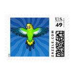 Cartoon Budgie / Parakeet Stamp