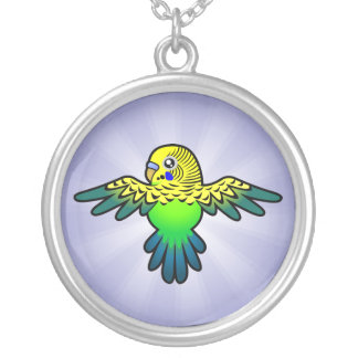 Cartoon Budgie Silver Plated Necklace