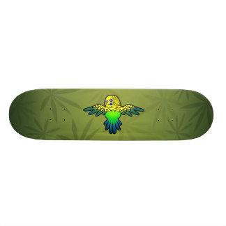 Cartoon Budgie Skateboard Deck