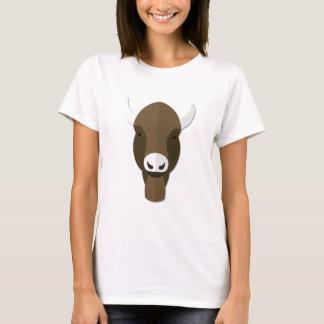 Cartoon Buffalo Head T-Shirt