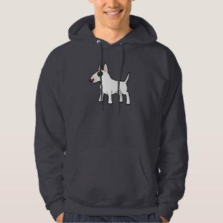 Cartoon Bull Terrier Hooded Pullovers