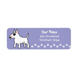 Cartoon Bull Terrier Return Address Labels