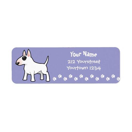 Cartoon Bull Terrier Label