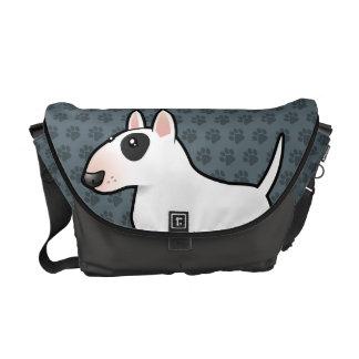 Cartoon Bull Terrier Courier Bags