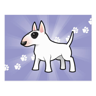 Cartoon Bull Terrier Post Cards