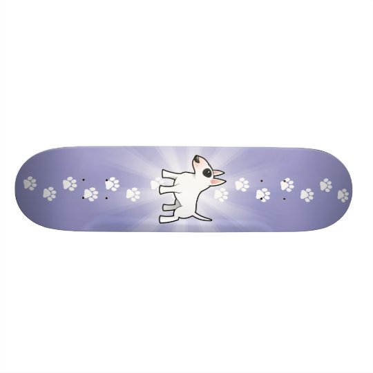 Cartoon Bull Terrier Skateboard Deck