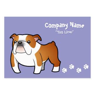 Cartoon Bulldog Large Business Cards (Pack Of 100)