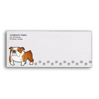 Cartoon Bulldog Envelope