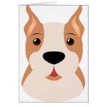Cartoon Bulldog Greeting Card