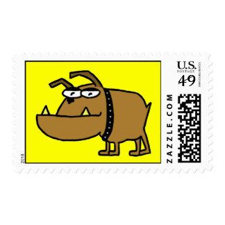 Cartoon Bulldog Postage Stamps Stamps