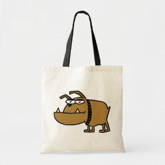 Cartoon Bulldog Tote Bag