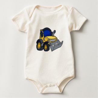 Cartoon Bulldozer Digger Baby Bodysuit