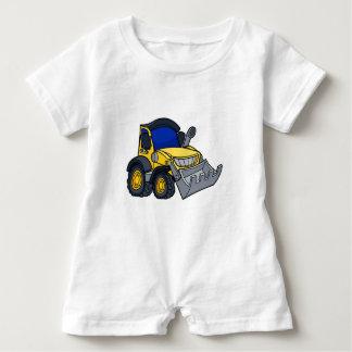 Cartoon Bulldozer Digger Baby Romper
