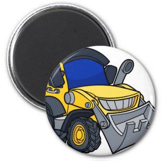 Cartoon Bulldozer Digger Magnet