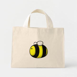 Cartoon Bumble Bee Tote Bags