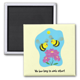 Cartoon Bumble Bees Magnet