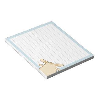 Cartoon bunny illustration scratch pad