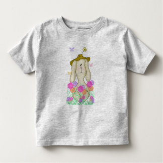 Cartoon Bunny in a Floppy Hat Toddler T-shirt
