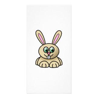 Cartoon Bunny Rabbit Custom Photo Card