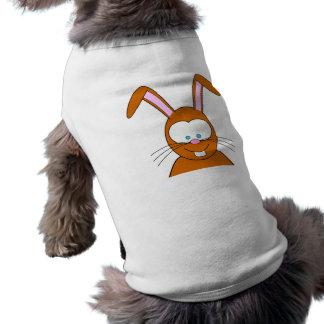 Cartoon Bunny Rabbit Face Doggie Shirt