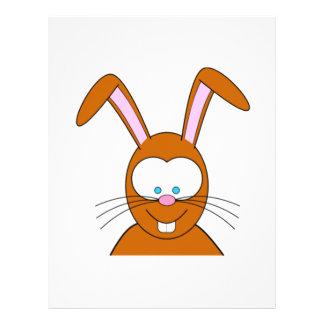 Cartoon Bunny Rabbit Face Letterhead Design
