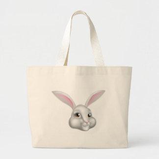 Cartoon Bunny Rabbit Large Tote Bag