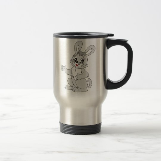 Cartoon Bunny Rabbit Travel Mug