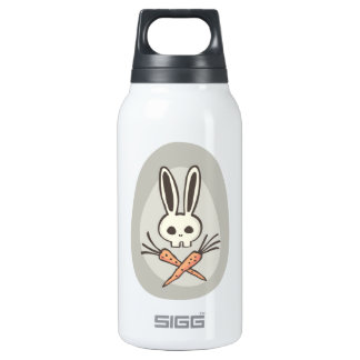 Cartoon Bunny Skull and Crossbones Bottle