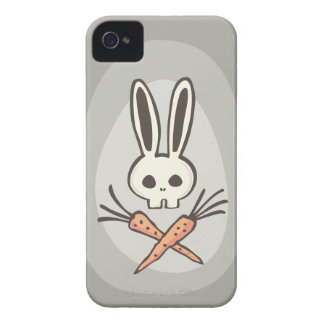 Cartoon Bunny Skull and Crossbones iPhone4 Case