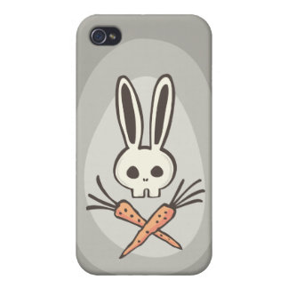 Cartoon Bunny Skull and Crossbones iPhone 4 Cases