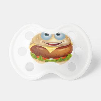 Cartoon burger man baby pacifiers