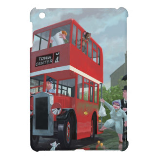 cartoon bus stop queue iPad mini covers