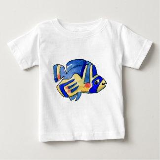 Cartoon Butterfly Blue Fish Baby T-Shirt