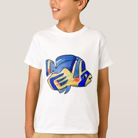 Cartoon Butterfly Blue Fish T-Shirt