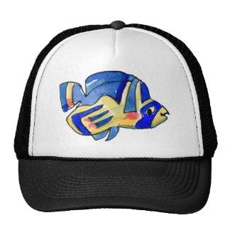 Cartoon Butterfly Blue Fish Trucker Hat