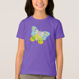 Cartoon Butterfly - Kids T-Shirt
