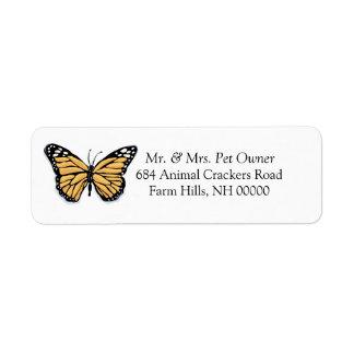 Cartoon Butterfly Return Address Labels Stickers