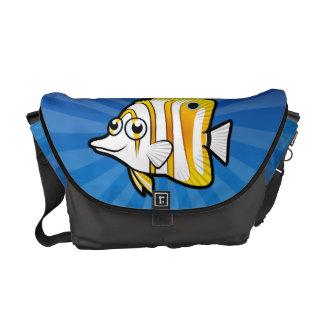 Cartoon Butterflyfish Courier Bag