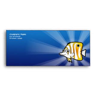 Cartoon Butterflyfish Envelope