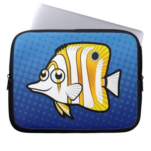 Cartoon Butterflyfish Laptop Computer Sleeves