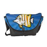 Cartoon Butterflyfish Messenger Bags