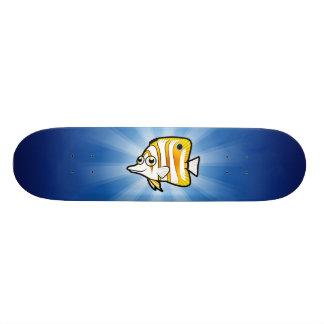 Cartoon Butterflyfish Skateboard Deck