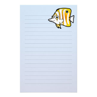 Cartoon Butterflyfish Stationery