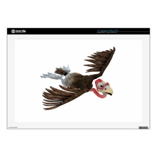"""Cartoon Buzzard Flying Seen from Above Decal For 17"""" Laptop"""