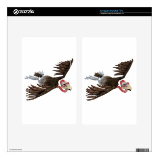 Cartoon Buzzard Flying Seen from Above Decal For Kindle Fire