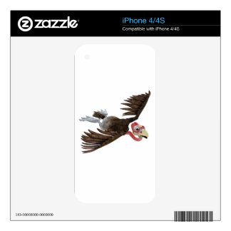 Cartoon Buzzard Flying Seen from Above iPhone 4S Decal