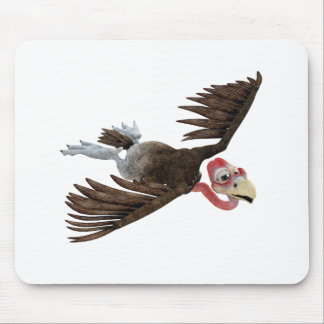 Cartoon Buzzard Flying Seen from Above Mouse Pad
