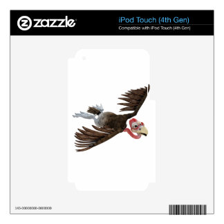Cartoon Buzzard Flying Seen from Above Skins For iPod Touch 4G